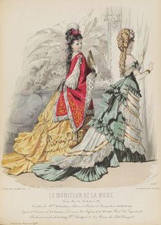 Le Moniteur de la Mode 1875 - Antique & vintage historical fashion clothing at Ruby Lane. www.rubylane.com @rubylaneinc