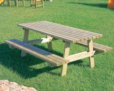 Table pique-nique bois de pin - Code produit: 13608824 - Cliquez sur la photo pour voir la fiche produit