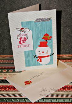 CTMH Cut Above Snowman Holiday Card