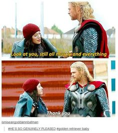 """Thank you"" ~ Thor. That's so funny!!!!!!!!!! HAHAHAHA"