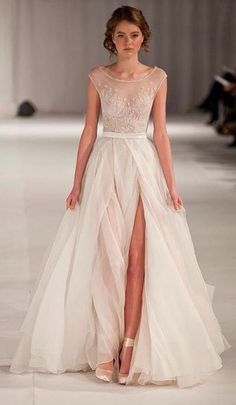 Paolo Sebastian short sleeve wedding dress. The Wedding Scoop Spotlight: Short Sleeve Wedding Dresses #wedding #dress #gown :