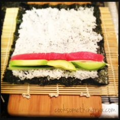 Oh yeah, we will be doing this. Ill surprise my husband with some home made sushi since we are new in town and dont know where to go! I Love Food, Good Food, Yummy Food, Healthy Dishes, Easy Healthy Recipes, Healthy Meals, Healthy Eating, Sushi Recipes, Cooking Recipes