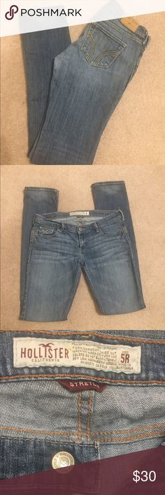 "Hollister💥I ❤ offers💥 Laguna skinny. Size 5R. Inseam 32"" Hollister Jeans Skinny"