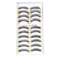 MAANGE Makeup Extension False Eyelashes Handmade  False Eyelashes Extensions Natural Transparent Eye Lashes Makeup Black Fake Ey