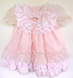 Toddler Girls Vintage Pink Dress Chiffon by LilDudesAndDarlins, $12.00