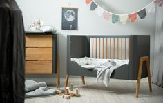 Teak, Troll, Cot, Kids Room, Nursery, Grey, Inspiration, Furniture, Home Decor