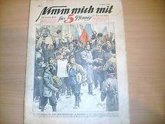 Nim mich mit für 5 Pfennig Tageszeitung von 1906 Revolution in Peterburg