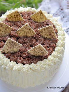 Tort cu crema de ciocolata Tiramisu, Caramel, Great Gifts, Sweets, Cooking, Cake, Ethnic Recipes, Desserts, Inspiration