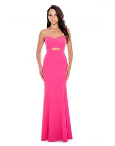 Strapless Double Cutout Gown
