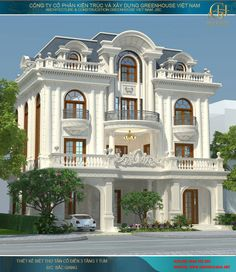Classic House Exterior, Classic House Design, Dream House Exterior, Dream Home Design, Modern House Design, House Plans Mansion, My House Plans, Luxury Homes Dream Houses, Luxury House Plans
