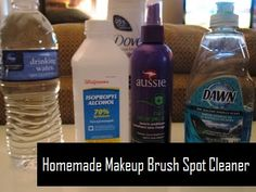 Homemade Makeup Brush Spot Cleaner