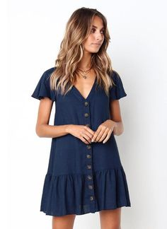 35 Chic & Comfortable Winter Outfit Ideas for 2019 – Fashion and wedding Summer Dresses With Sleeves, Cute Dresses, Casual Dresses, Short Sleeve Dresses, Mini Dresses, Flower Dresses, Dress Summer, Casual Outfits, Cute Outfits