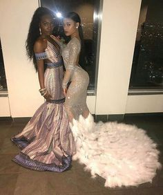 Seductive is the perfect adjective to depict this fit-and-flare silver illusion prom dress featuring luxe train made of feathers, glittering long sleeves and alluring open back. Be prepared to be the spotlight in this gorgeous prom dress. Black Girl Prom Dresses, Gorgeous Prom Dresses, Open Back Prom Dresses, Cute Prom Dresses, Prom Outfits, Homecoming Dresses, Formal Dresses, Besties, Prom Goals