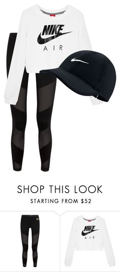 """""""Nike"""" by abbyausprung ❤ liked on Polyvore featuring Monreal and NIKE"""