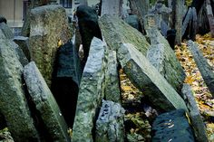 "Jewish Cemetary, Josefov    This cemetary was quite unbelievable since all of the bodies seemed to be buried on top of one another.    According to about.com, "" The Old Jewish Cemetery in Josefov, the Jewish Quarter, was created in the 15th century when Jews were forbidden to bury their dead outside their own district. Space was scarce, so bodies were buried on top of each other in an estimated 12 layers. Over the centuries, lopsided tombstones formed unruly, poetic groupings."""