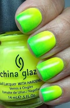 Neon Nail Art Designs for 2014