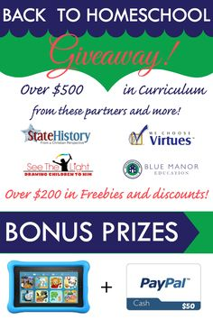 If the budget is tight this homeschool year, we have you covered with this year's Back to Homeschool Curriculum Giveaway! With over $500 in curriculum, $100 in bonus prizes and $200 in freebies and discounts, you definitely don't want to miss out. Someone will win this curriculum prize pack featuring all the resources below, plus …