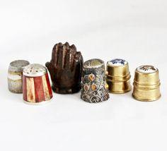 6 x Vintage Thimbles / Lot of 6 Souvenir by GrandpasMarket on Etsy, €34.90
