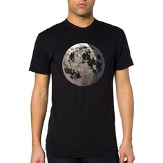 Men's Moon Shirt  almost full moon graphic with by alittlelark, $36.00