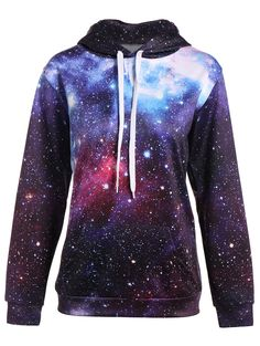 | Black Friday Sale: Extra 15% OFF Using Code SAMMY2016 | Pullover Kangaroo Pocket Galaxy Hoodie in Colormix | Sammydress.com
