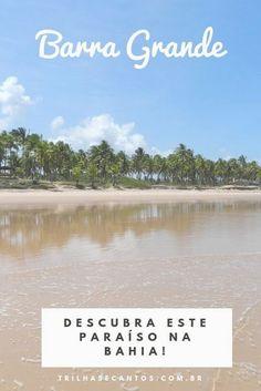 Barra Grande - Península de Maraú, Bahia: um guia do paraíso #brasil #praias #destinosdeverão Places Around The World, Around The Worlds, Brazil Beaches, Grande, Water, Vertical, Travel, Outdoor, Trips