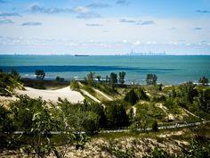 Ogden Dunes Beach Lake Michigan Indiana Chicago Travel Restaurants Bright