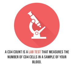 A CD4 count is a lab test that measures the number of CD4 cells in a sample of your blood