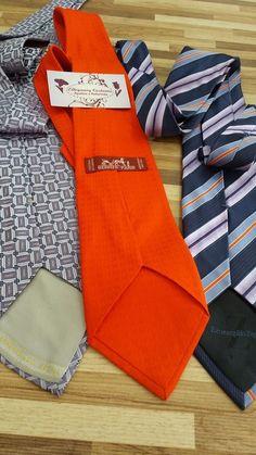 customização em gravatas hermés e Ermenegildo zegna