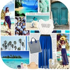 A Day at the Beach, created by nabilaindahh on Polyvore
