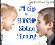 How to stop the sibling rivalry – teaching your kids to stop saying mean things to each other!