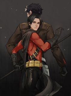 Jason Todd & Tim Drake  Brothers aren't always defined by blood.I wish they'd realize that.