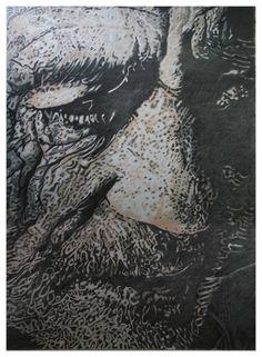 Heribert Stragholz : Portrait 1602 - Bleistift/Farbstift- 100 x 140 cm