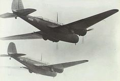 Two Royal Netherlands East Indies Army Air Force Martin 166 (139WH) bombers in flight over Malaya, in January 1942.