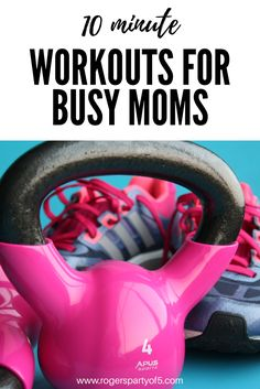 Are you trying to lose the baby weight?  Or just looking to tone, flatten your stomach and sculpt your abs, but don't have time? These easy, 10 minute easy workouts are perfect for busy moms! | exercise with kids | quick workouts | ten minute workouts | get fit |