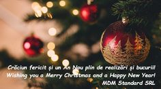 Crăciun fericit și un An Nou plin de realizări și bucurii! Happy New, Christmas Bulbs, Merry, Holiday Decor, Christmas Light Bulbs
