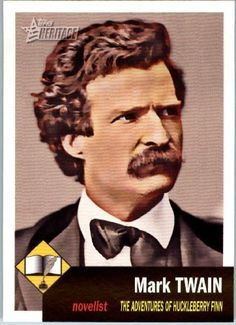 2009 Topps American Heritage Baseball Cards # 1 Mark Twain (Adventures of Huckleberry Finn)(Writer) Trading Card by Topps. $1.87. 2009 Topps American Heritage Baseball Cards # 1 Mark Twain (Adventures of Huckleberry Finn)(Writer) Trading Card