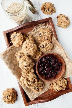 Quinoa Oatmeal Cranberry Cookies. #food