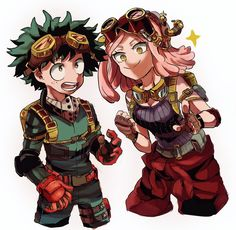 Midoriya and Hatsume