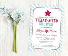 "Lone Star ""Texas-Sized"" Couples Shower - Texas themed wedding from The Inked Leaf on Etsy."