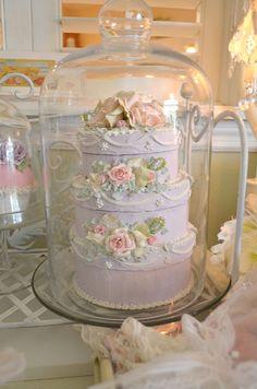 Lavender faux cake!