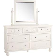 Ashworth Dresser  Mirror - Antique White