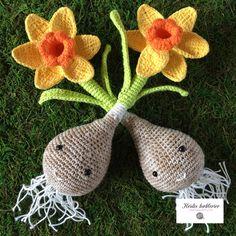 Cactus En Crochet, Crochet Food, Easter Crochet, Crochet Flower Tutorial, Crochet Instructions, Crochet Flower Patterns, Quick Crochet, Cute Crochet, Knit Crochet