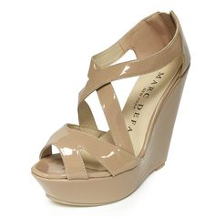 """Marc Defang 5.5"""" heels 2"""" Platforms Patent Leather Strappy Wedges - MARC DEFANG NEW YORK"""
