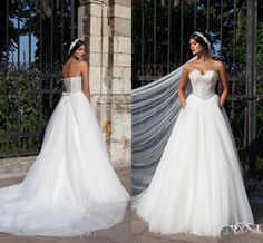 Tulle Lace Bodice A Line Wedding Dresses 2015 Sweetheart Neckline Sexy Custom Backless Chapel Bridal Beach/Garden Summer Wedding Gown #dhgatePin