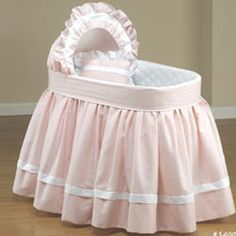 Clothe your standard sized bassinet in Baby Doll Bedding's Regal Pique Bassinet Bedding Set. Made from the finest solid pique fabrics, this set includes a bassinet liner/skirt, and hood cover. Bassinet not included. Bassinet Cover, Baby Bassinet, Baby Cribs, Baby Beds, Baby Doll Bed, Doll Beds, Baby Dolls, Cradle Bedding, Doll Bedding