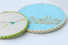 PitterAndGlink: {Embroidery Hoop Art}