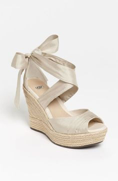 I think this shoe would work, just without the platform. Too high! UGG® Australia 'Lucianna' Wedge available at #Nordstrom