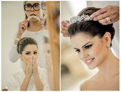 Grinalda para noiva - Maquiagem - Makeup - Penteado Noiva - Hairstyle - Noiva - Bride - Casamento - Wedding - Inesuqecível Casamento