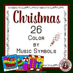 DECEMBER MUSIC ACTIVITIES: CHRISTMAS COLOR by MUSIC NOTES and RESTS. Excellent for your Christmas Music Lesson This set contains 26 CHRISTMAS Music Coloring Worksheets ♫ ♫ Coloring sheets are such a favorite with young musicians ♫ ♫