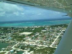 Flying from Belize City to San Pedro on Tropic Air's puddle jumpers. I was breathless before we even arrived!